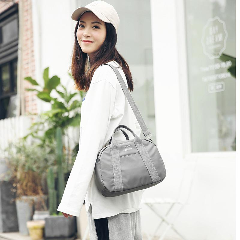Online Celebrity Travel Bag Female Hand Carry Short Trip Small Luggage Airplane Light Students Cute Gym Sports Bag