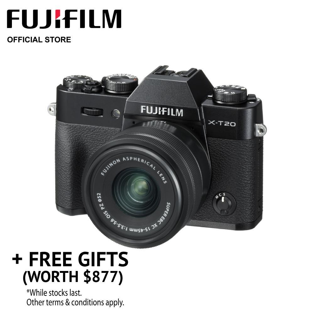 [may Promo] Fujifilm X-T20 Body + Xc15-45mm Power Zoom Kit (free Gifts Worth $877) By Fujifilm.