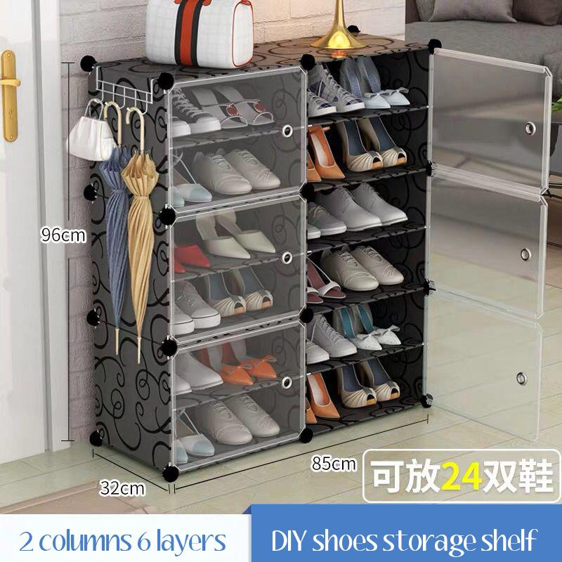 Shoe storage shelf box waterproof DIY magic cube simple wardrobe shoe rack organizer hook SSV021 SSV026 house warming gift idea