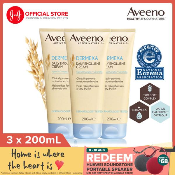 Buy Aveeno Dermexa Cream 200ml x3 Singapore