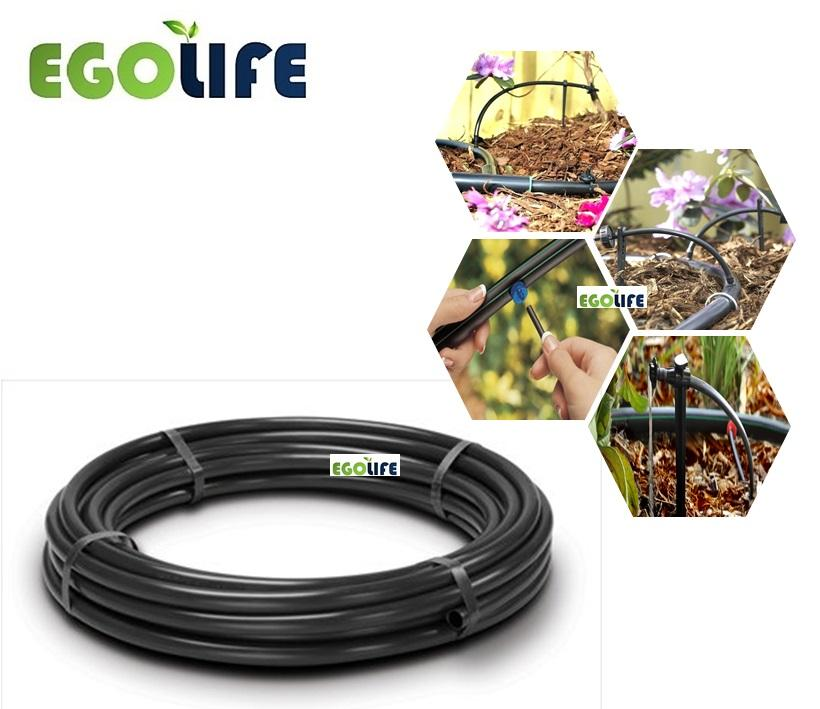 20meter Black Irrigation LDPE Tubing Poly Pipe 16mm (Outer)/13mm(Inner) for Water Drip, Micro Sprinkler or NFT Hydroponic, Windmill Brand