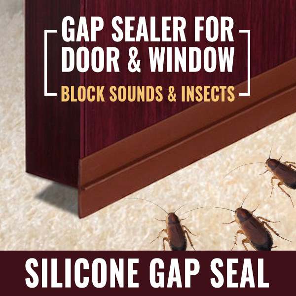 SILICONE GAP SEALER FOR DOOR AND WINDOW, BLOCK INSECTS, SOUNDS, HAZE, AND SMOKE