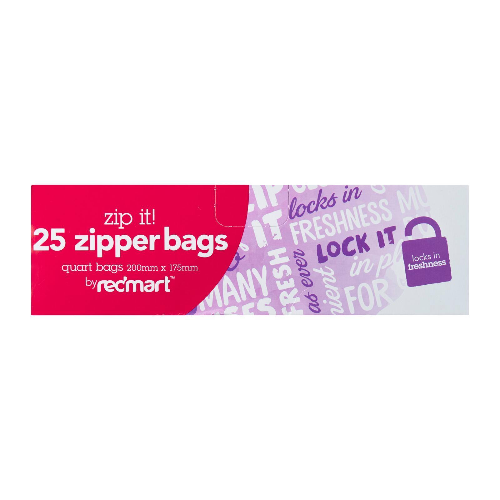 Redmart 25 Quart Small Zipper Bags By Redmart.