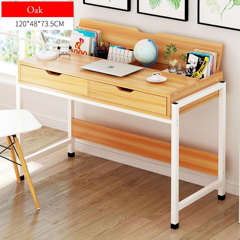 Wooden Study Desk With Drawers-120cm
