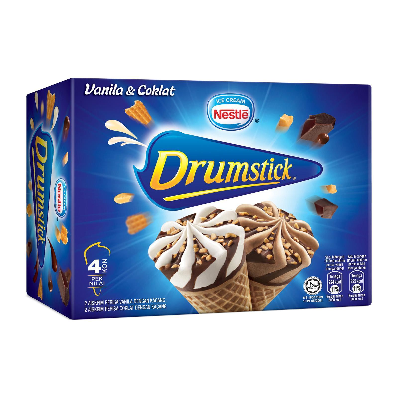NESTLE Drumstick Vanilla and Chocolate Multipack Ice Cream