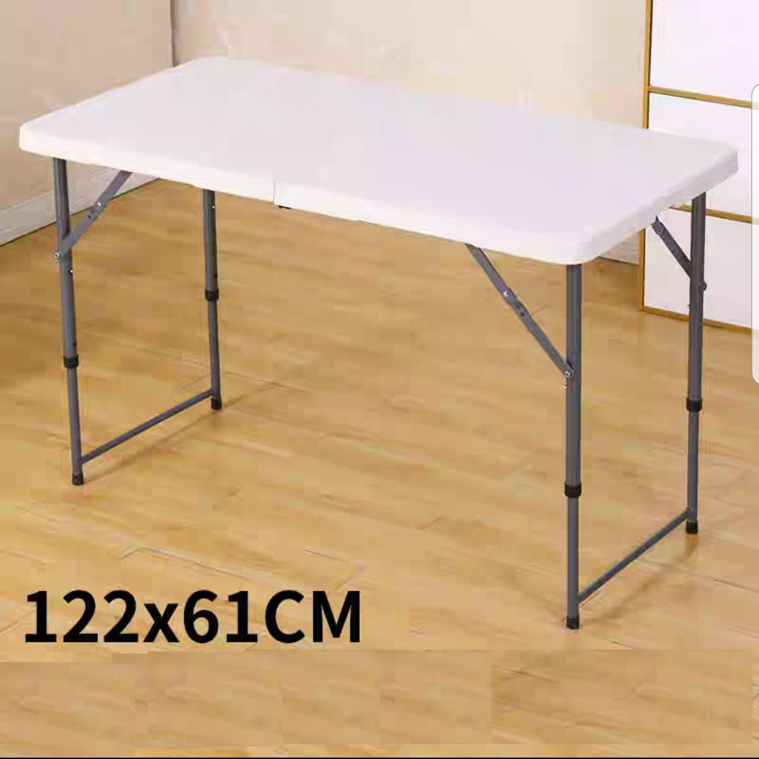 Foldable Table HDPE Portable Super Sturdy Heavy Duty Strong Stable 150*60*75 cm