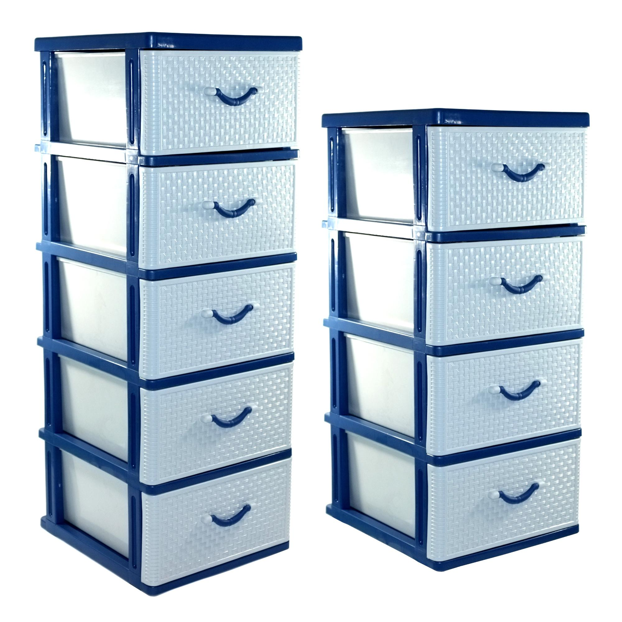 Drawer Cabinet Set of 4 Tier / 5 Tier / home laundry room office storage organizer stocker container / Made in Thailand
