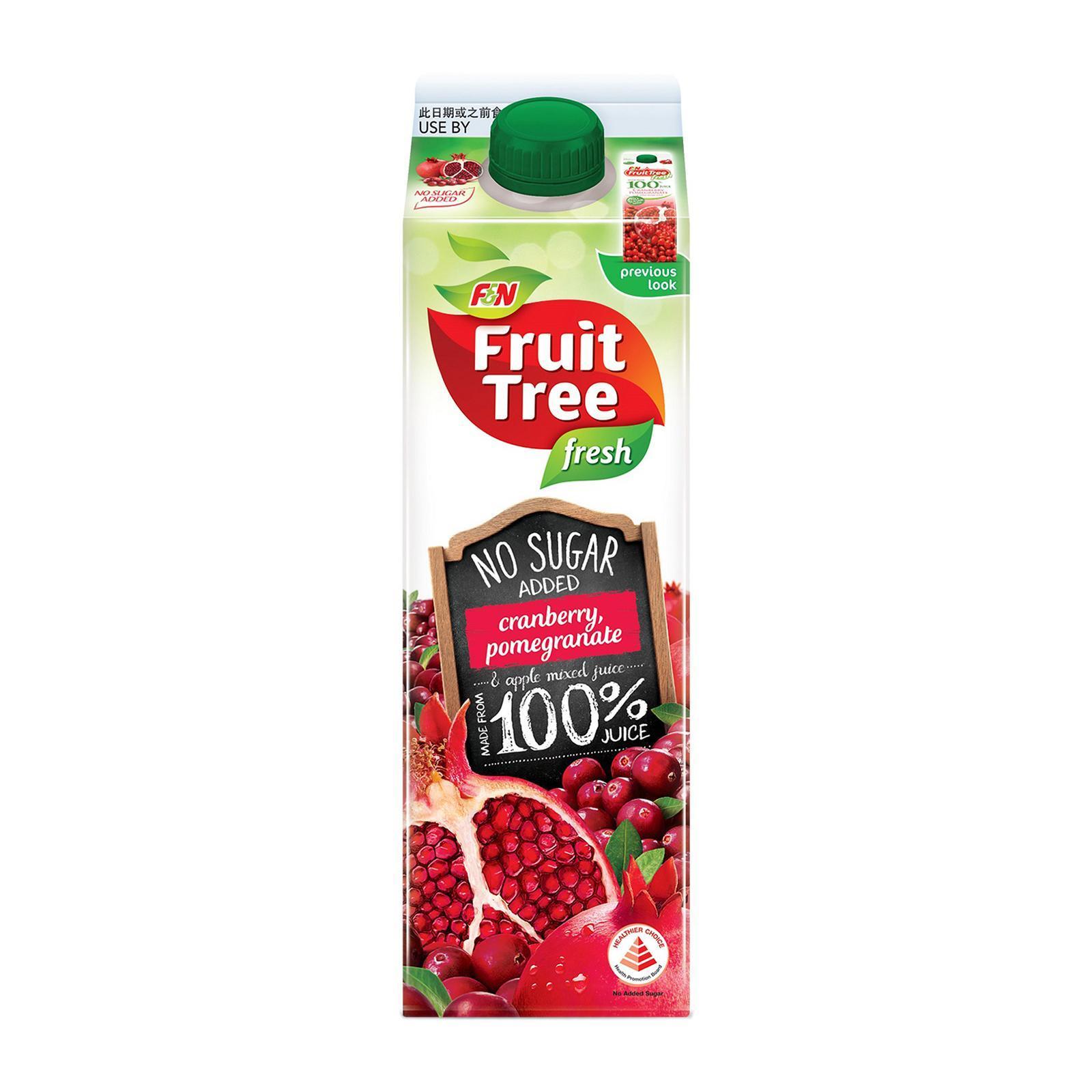 F&n Fruit Tree Fresh Cranberry Pomegranate - No Added Sugar By Redmart.
