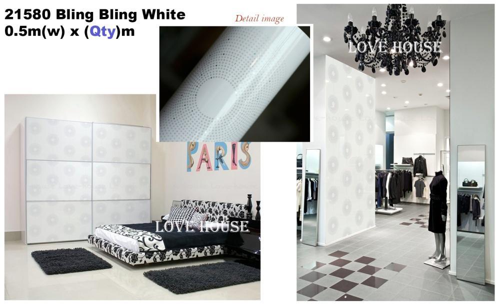 50cmx5m/roll DIY 21580 Furniture Sticker Self Adhesive Wallpaper Decoration