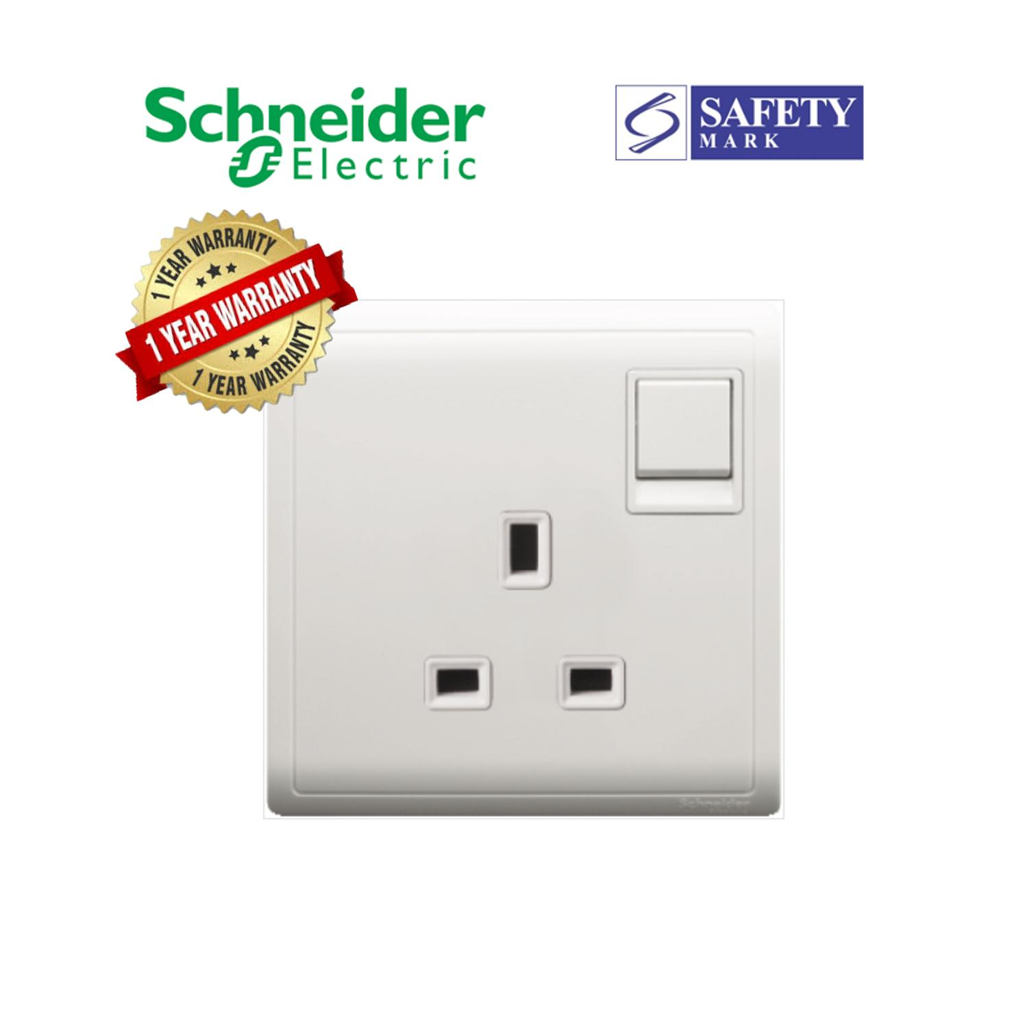 Authentic Schneider Electric Pieno- 13A 250V 1Gang Switched Socket/ Wall Socket with 1Year Local Warranty