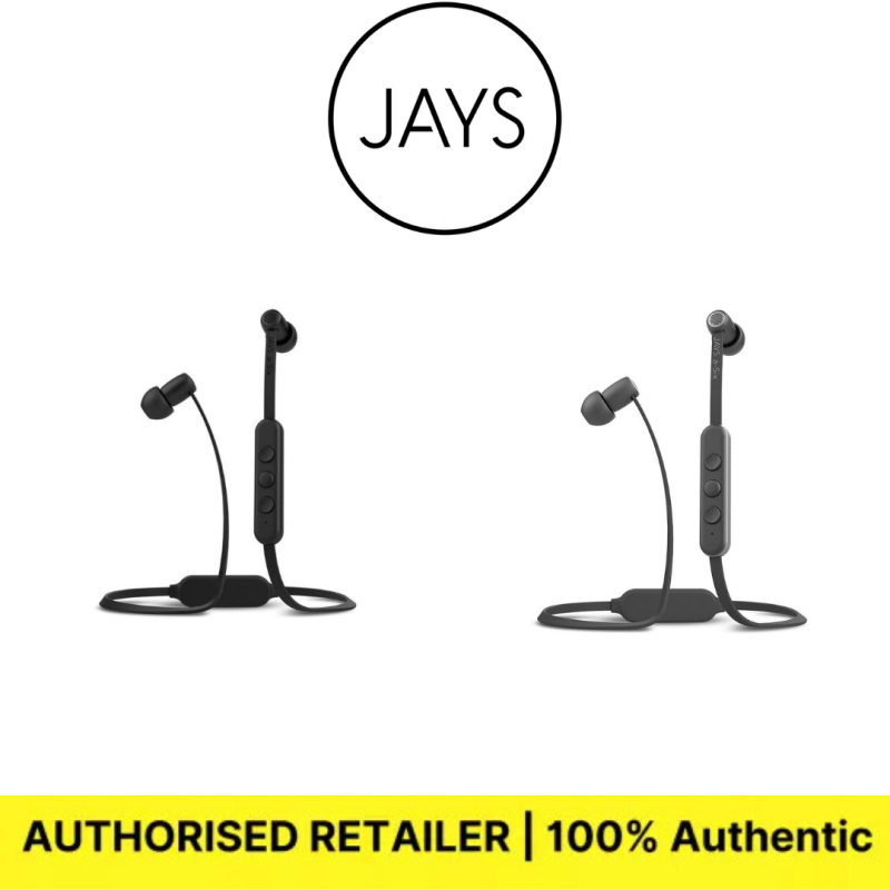 JAYS a-Six Wireless Earphone (Bluetooth 4.1 / 12 hours continuous playback / Remote control with microphone / Gray / Silver) JS-ASW-G/S2 Singapore