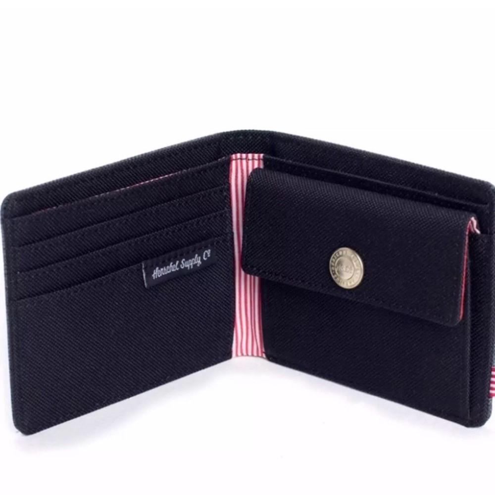 Herschel Closed Wallet Wearable Canvas With Coin Purse Multi-Card Wallet