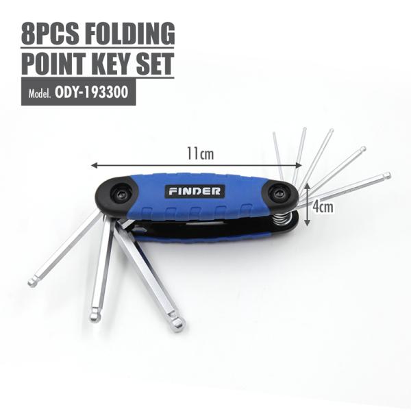 FINDER - 8pcs Folding Ball Point Key set