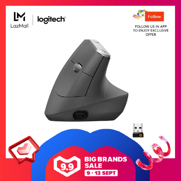 Logitech MX Vertical Ergonomic Mouse for Stress Injury Care