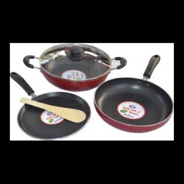 Bajaj Majesty Duo Non Stick IND BASE Cookware Set Singapore