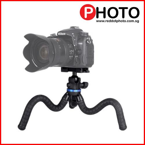 Gizomos Gp-08st Flexible Portable Gorilla-Style Tripod With Smartphone Holder.