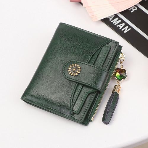 [Koleksi Taobao] 2019 model baru model wanita Dompet wanita model pendek Kulit asli murid Gaya Korea multifungsi SIM Dompet Mini Dompet Uang Receh