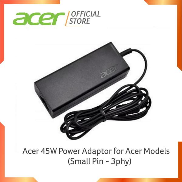Acer 45W Power Adaptor for Acer Models (Small Pin - 3phy)