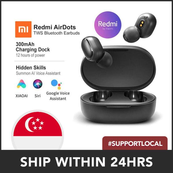 Redmi AirDots Earphone Bluetooth Headset 5.0 TWS True Wireless Stereo SBC Cute Mini Light Earphones Auto Charging Singapore