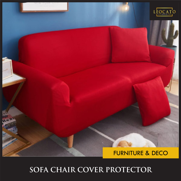 Free Pillowcase★SG Seller★1 2 3 4 Seater L Shape Sofa Chair Cover Protector 2