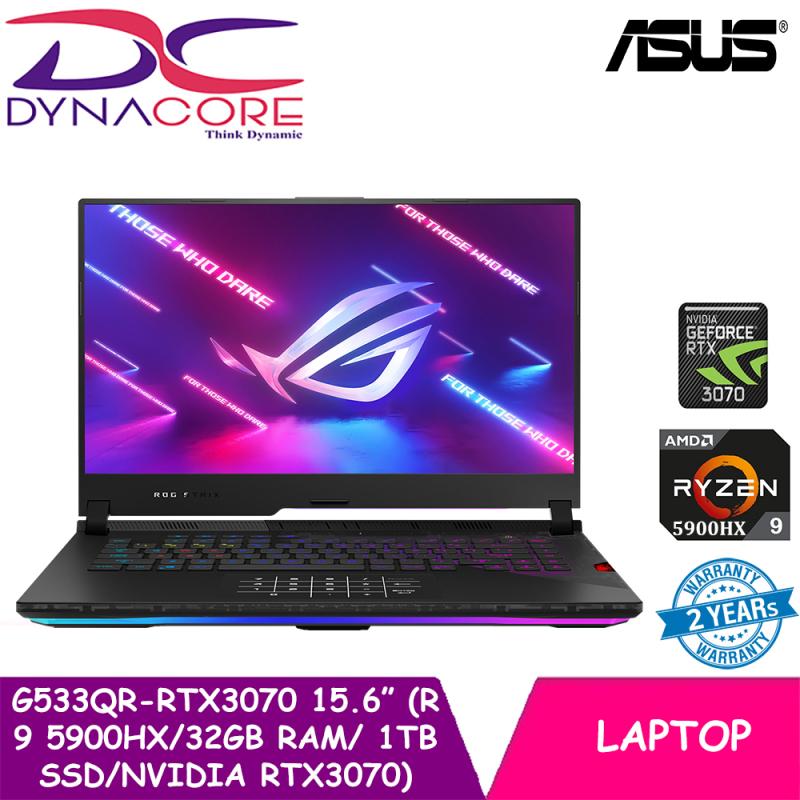 DYNACORE - ASUS ROG STRIX SCAR 15 G533QR-RTX3070   15.6 In 300Hz 1920x1080 FHD   RTX3070   Ryzen 9 5900HX   32GB RAM   1TB SSD   WIN 10HOME 2YEARS WARRANTY BY ASUS