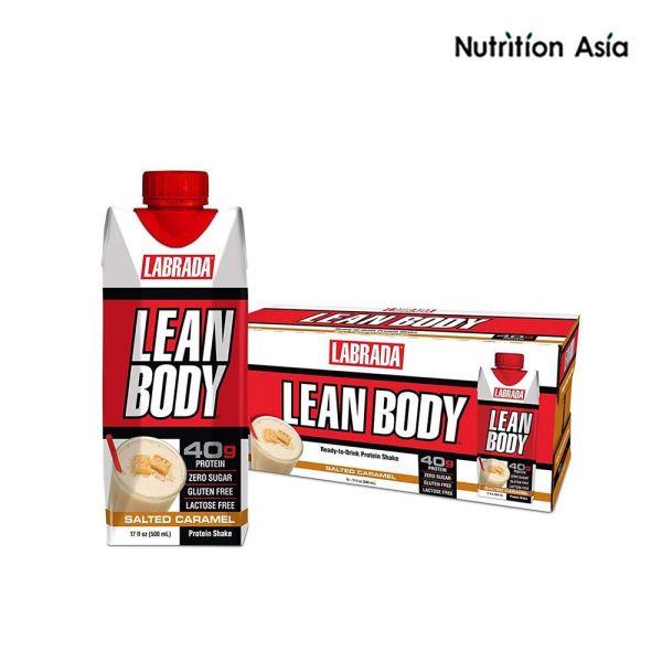 Buy Labrada Lean Body Protein Shake Salted Caramel 500ml x 12 bottles Singapore
