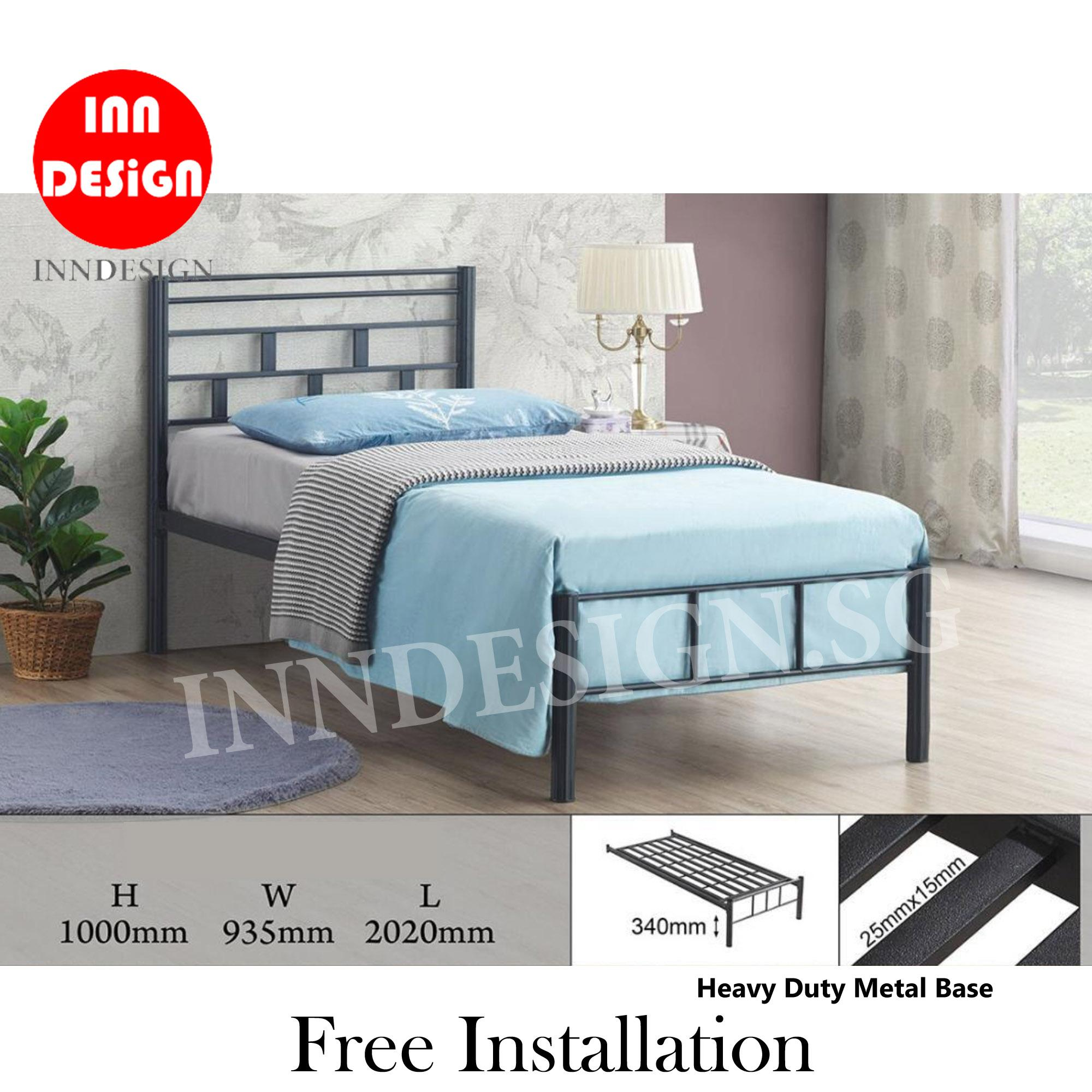 [NEW ARRIVAL] [6 Months Warranty] Emi Single Heavy Duty Metal Bedframe / Bed (Free Delivery and Installation)