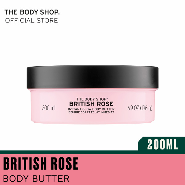 Buy The Body Shop British Rose Instant Glow Body Butter (200ML) Singapore