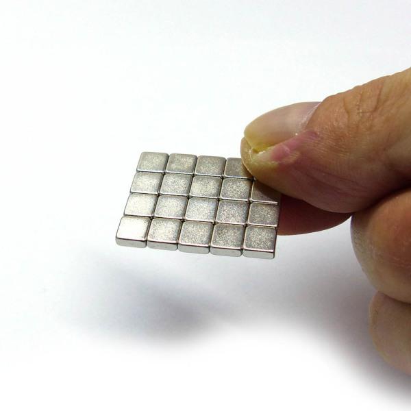 Block Neodymium Magnets N35 5x5x2mm, 20pcs