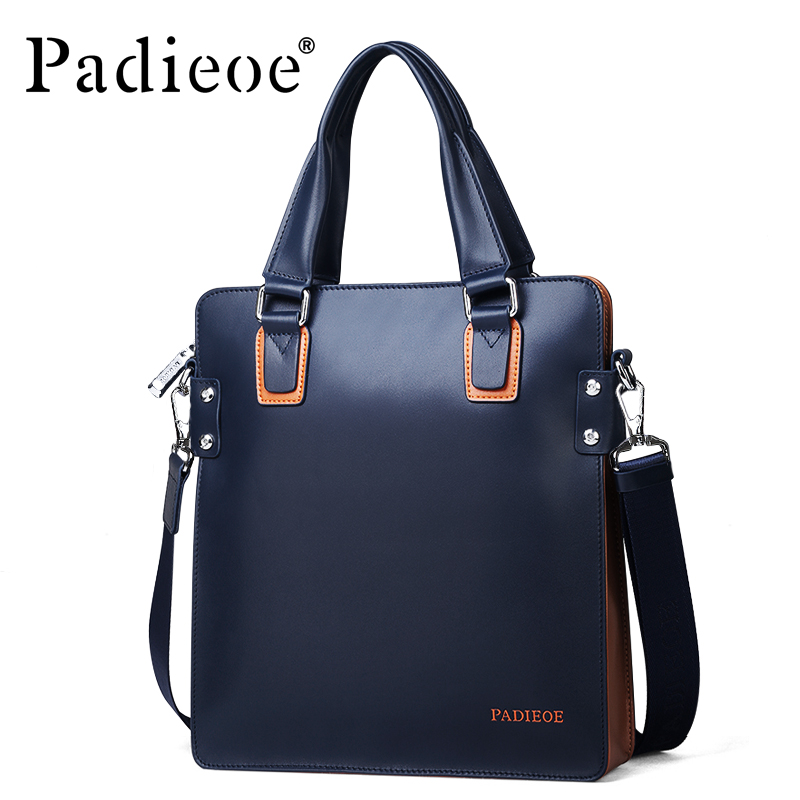 Padieoe Men Bags Luxury Designer Genuine Leather Handbags Classic Mens Travel Bags Large Capacity Men Messenger Bags - intl