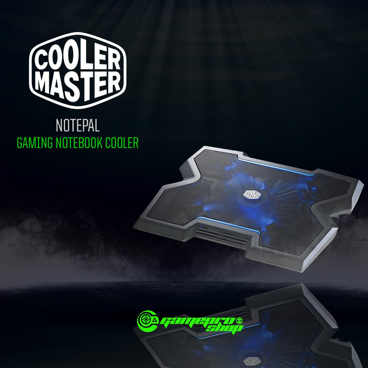 COOLER MASTER NOTEPAL X3 with BLUE LED GAMING NOTEBOOK COOLER *LAZADA BIRTHDAY PROMO*