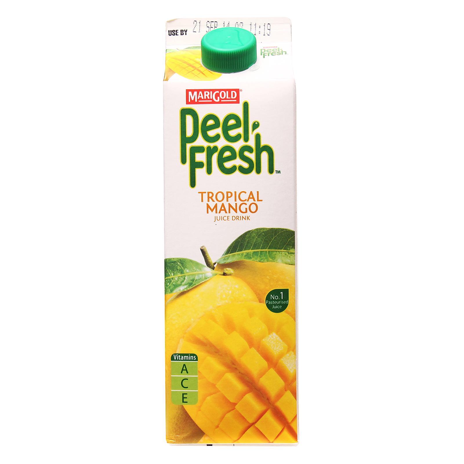 Marigold Peel Fresh Juice Drink - Tropical Mango By Redmart.