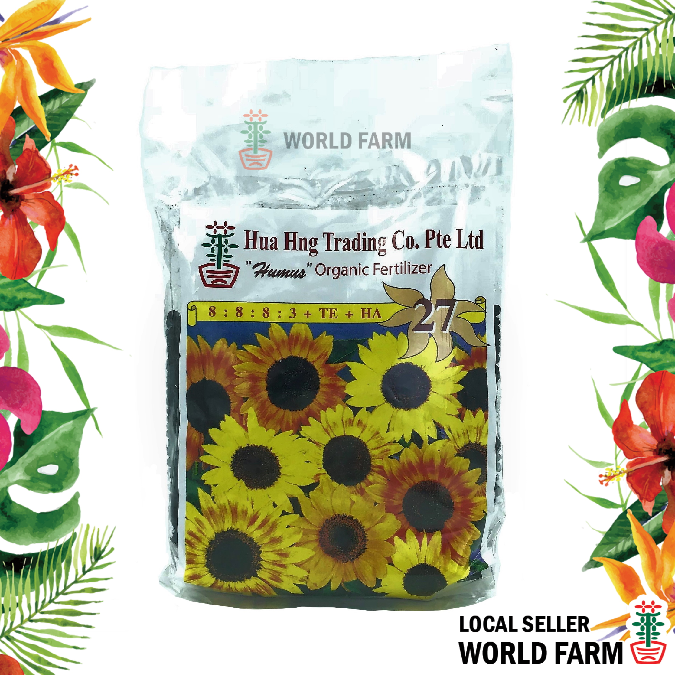 NPK 27 Humus Organic Fertiliser / Fertilizer for Overall Growth Granular 400g