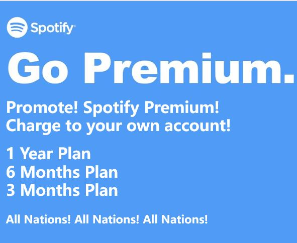 New Year Promotion! All Nations Spotify Premium Upgrade (1Year) with Warranty