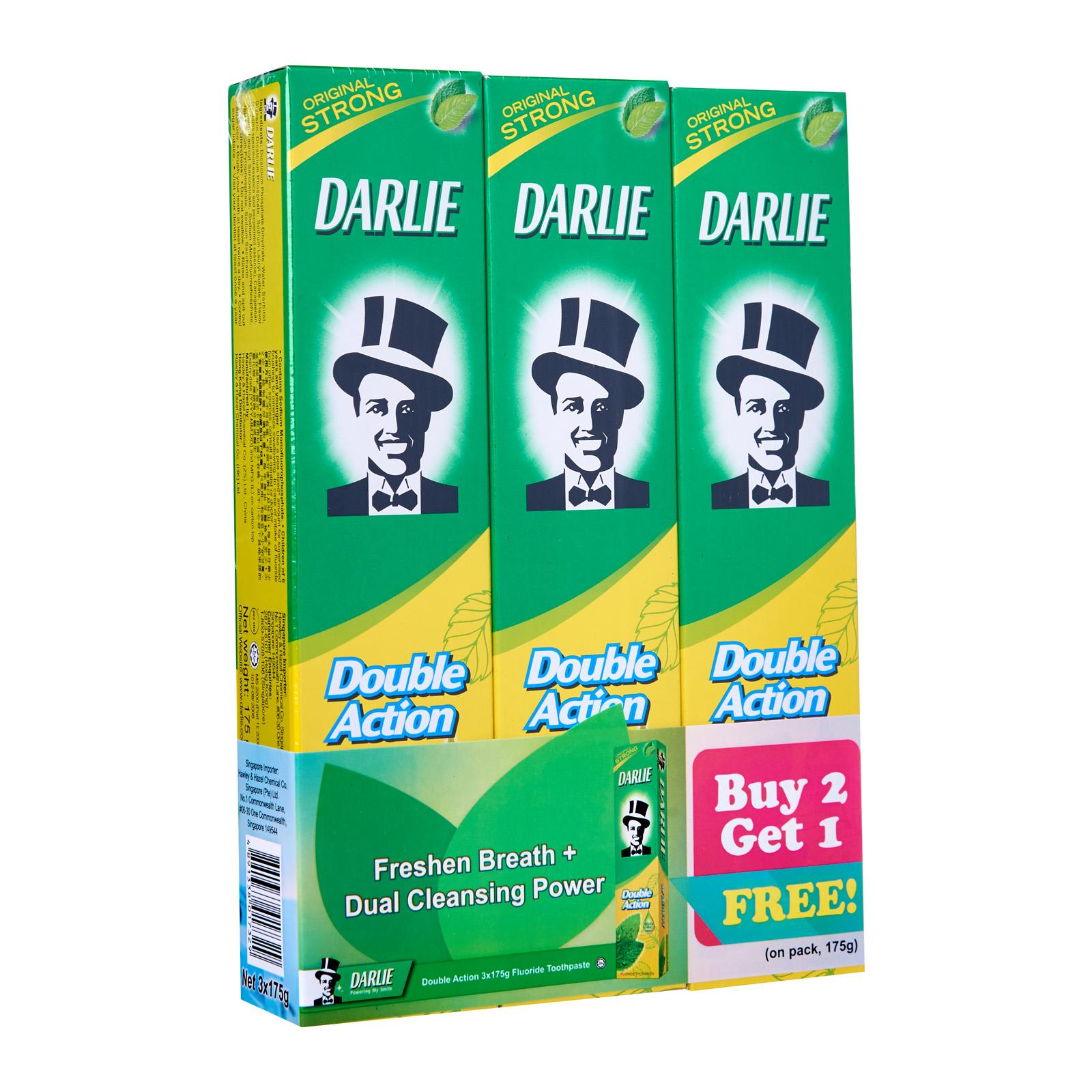Darlie Double Action Buy 2 Get 1 Free Pack (Original Strong Mint) Toothpaste