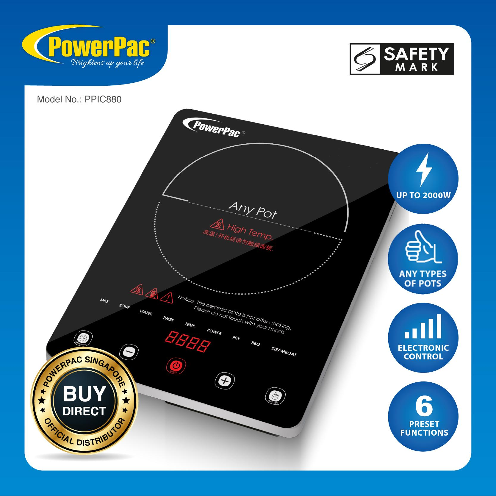 Powerpac Ceramic Cooker (any Pot) 2000 Watts (ppic880) By Powerpac.