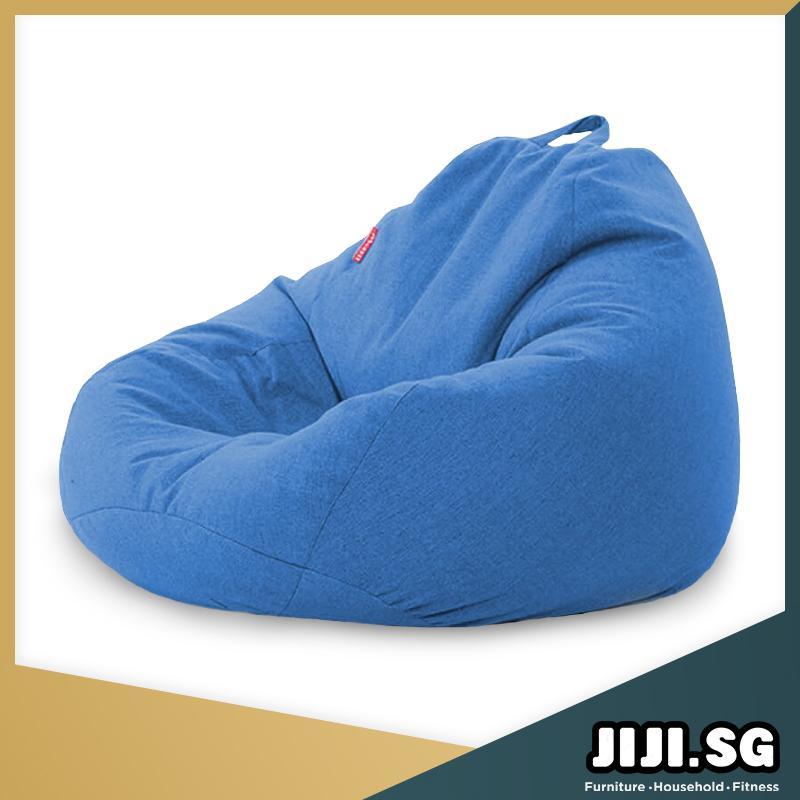 (JIJI SG) Nami Bean Bag (80 X 90CM / 90 X 110CM) - Beanbag/ Bean bag Chair /Styrofoam particles filled/ Fabric outer layer/ Washable / small sofa (SG)