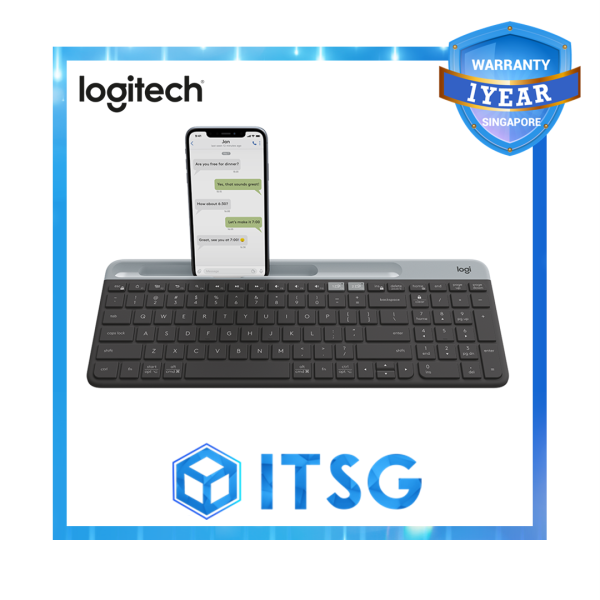 Logitech K580 Slim Wireless Multi-Device Keyboard - 1 Year Local Warranty Singapore