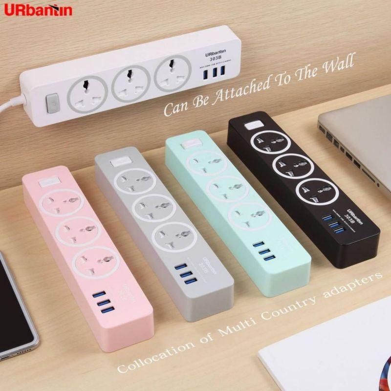 FAST Charging Stock Power Strip Universal Socket 3 USB Output 2AC & 1.8 meter SG