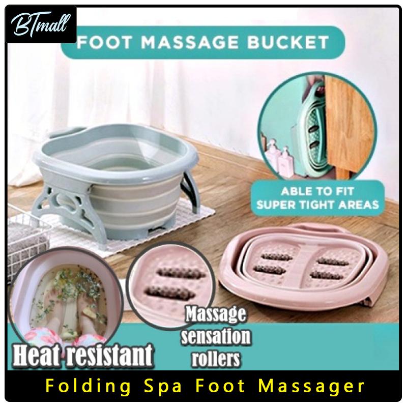 Buy Folding Spa Foot Massager/ Foldable Foot Spa Basin FootBath/ Reflexology/ Massage Singapore