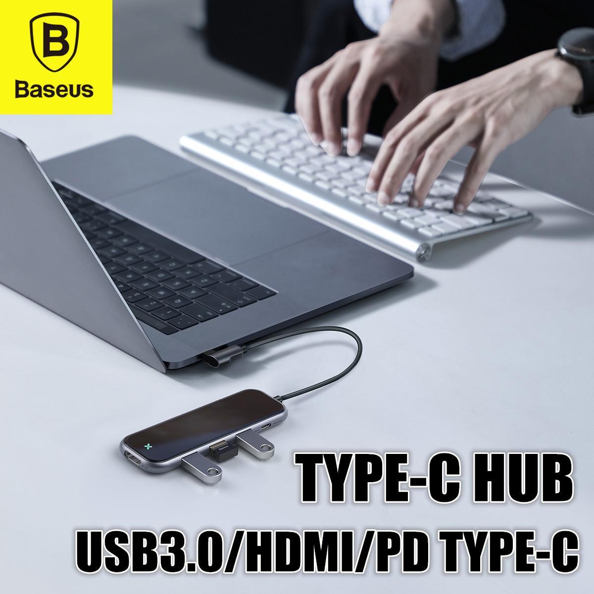 Baseus Mirror Type-C HUB Adapter Convertor (Type-C to 3 x USB3.0 + HDMI + PD Type-C)