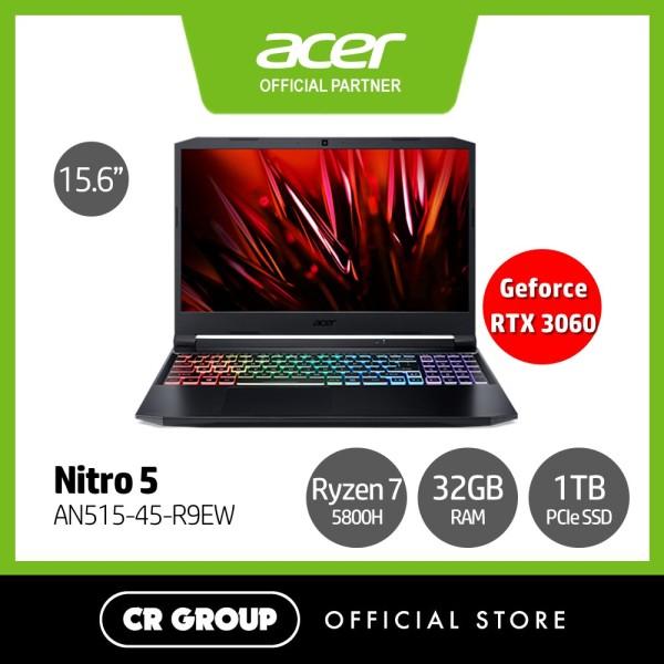 [Same Day Delivery] Acer Nitro 5 AN515-45-R9EW 15.6 FHD 144Hz Gaming Laptop | AMD Ryzen 7-5800H | 32GB RAM | 1TB SSD | NVIDIA GeForceRTX 3060