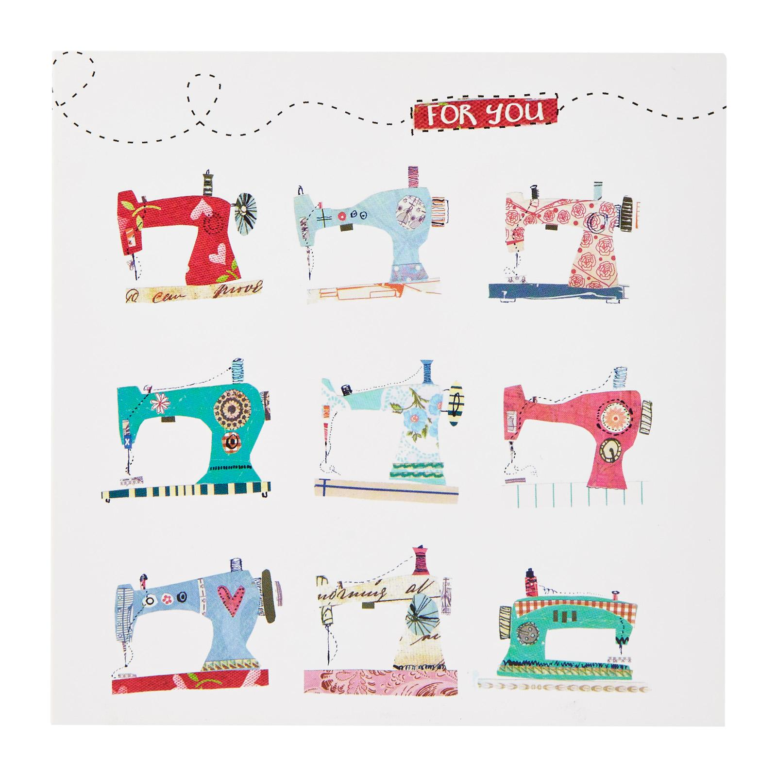 Affordable Cards Patterned Sewing Machines Greeting Card