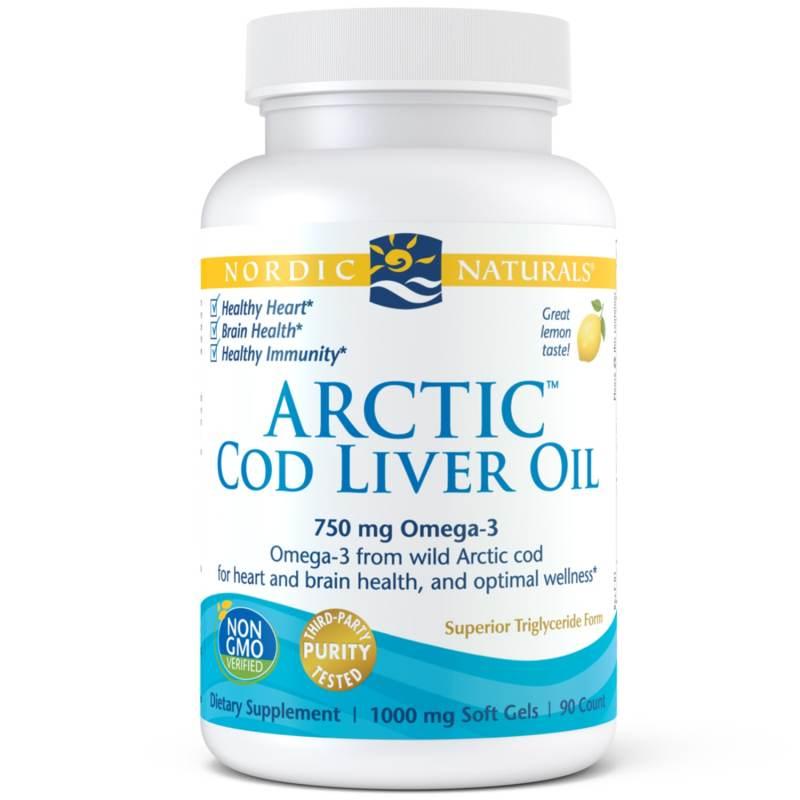 Buy Nordic Naturals Arctic Cod Liver Oil 90 Soft Gels Singapore