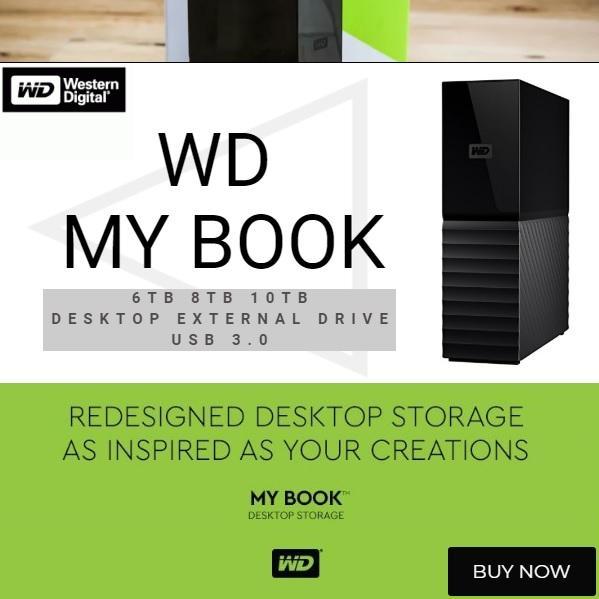 WD My Book 6TB 8TB 10TB Desktop External Hard Drive USB 3 0