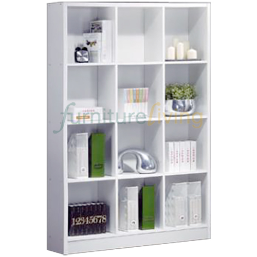 Furniture Living Bookcase (12 Compartments) White