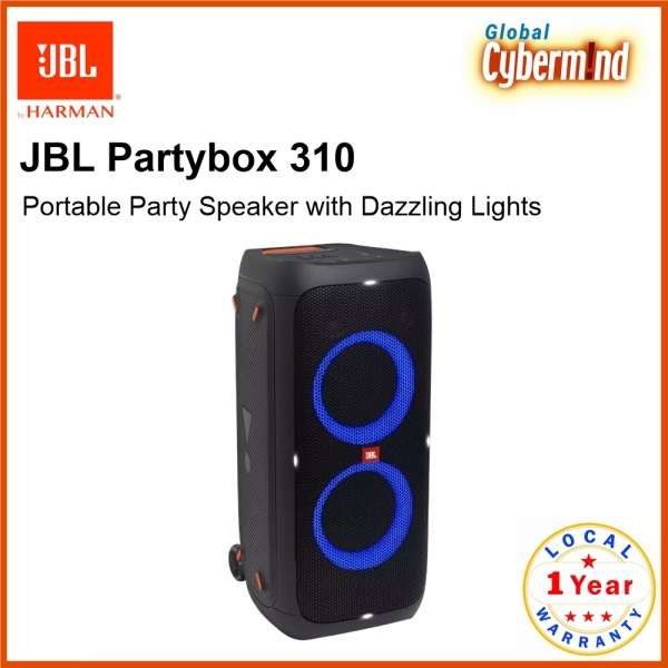 JBL Partybox 310 Portable Party Speaker with Dazzling Lights and Powerful JBL Pro Sound (Brought to you by Global Cybermind) Singapore