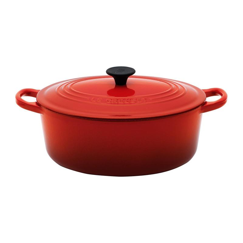 Le Creuset Cast Iron Oval French Oven 23cm Classic (Cherry Red) Singapore