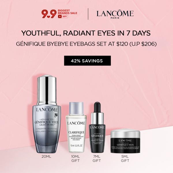 Buy [9.9 Exclusive] Lancome Genifique Bye Bye Eyebags Set - Advanced Génifique Yeux Light-Pearl Eye Serum 20ml + Additional 3-pc gift Singapore