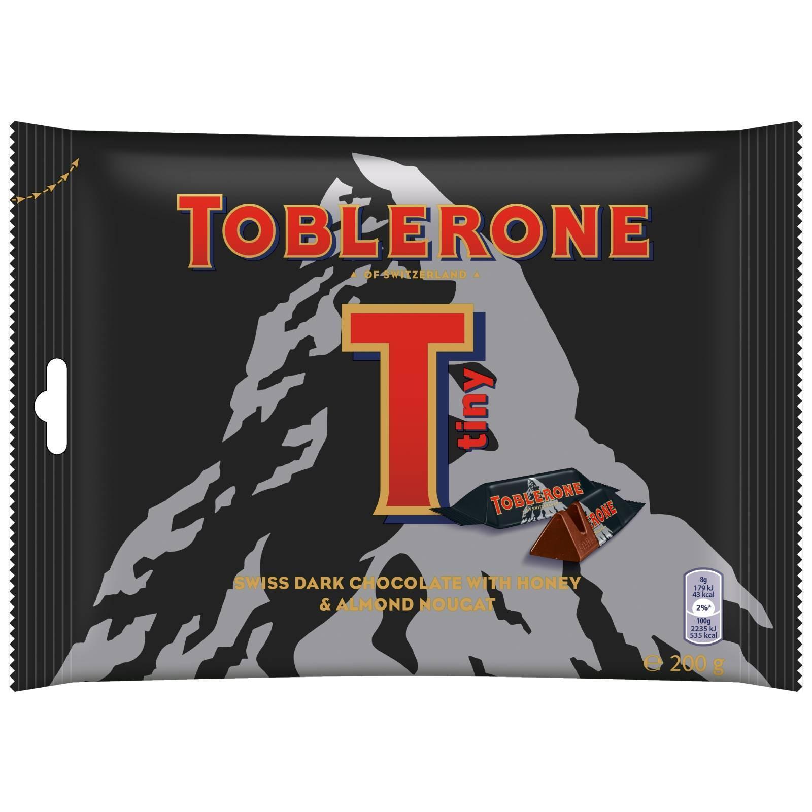 Toblerone Mini Dark Chocolate With Honey And Almond Nougat